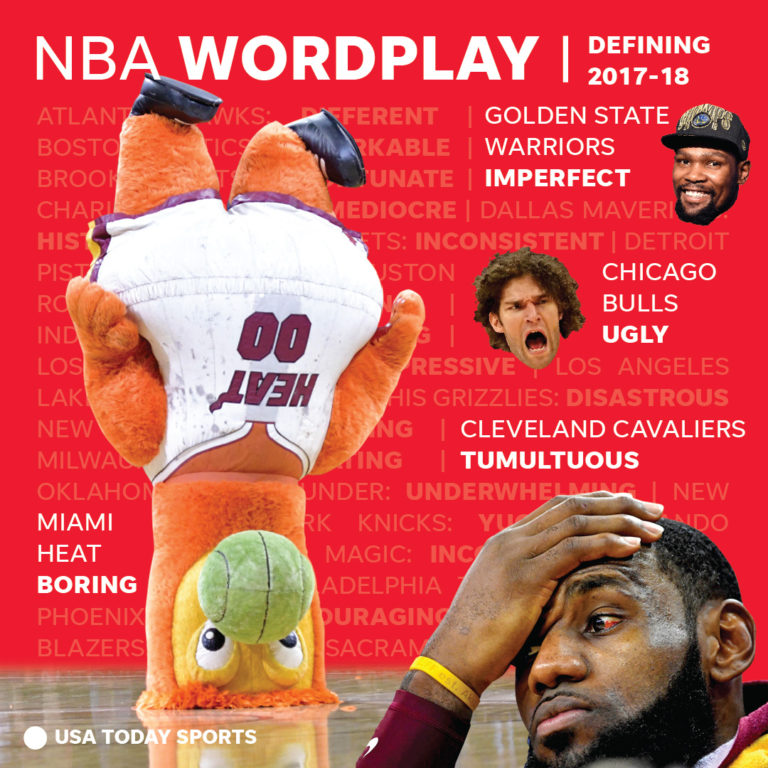 NBA season review social media graphic by Greg Hester