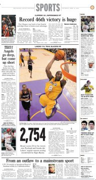Kobe breaks record