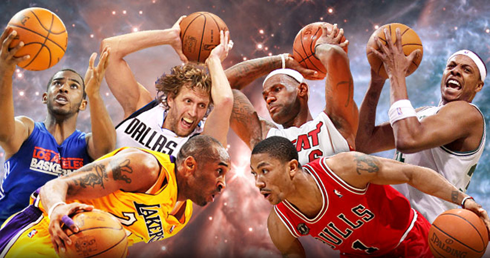 NBA season preview collage for Yahoo! Sports